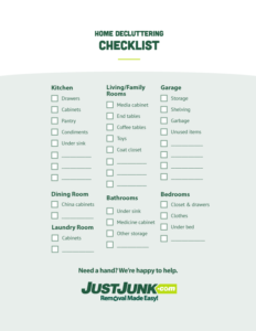 just junk home decluttering organizing checklist